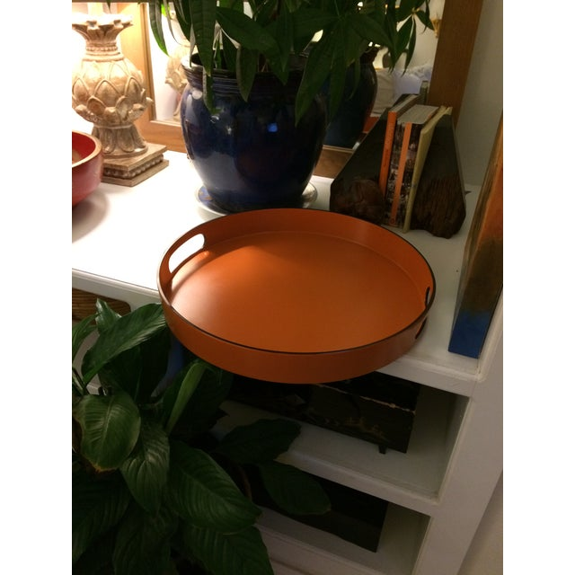 Hermes Style Orange Lacquer Serving Tray - Image 10 of 10