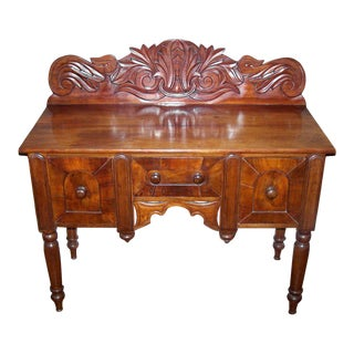Early 19th C Caribbean Mahogany Sideboard or Cupping Table