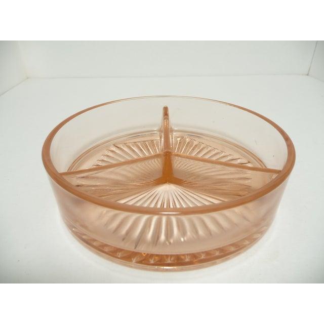 Image of Vintage Fostoria Lidded Dish, Blush Pink