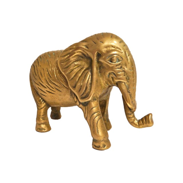 1940s Cast Brass Elephant - Image 1 of 4