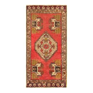 "Pasargad Vintage Sivas Wool Area Rug - 1' 8"" X 3' 4"""