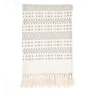 Ecru And Cream Handwoven Chiapas Throw