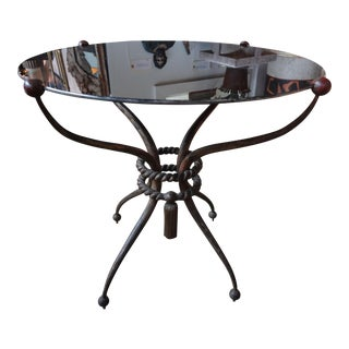 Robert Merceris French Wrought Iron Gueridon Table