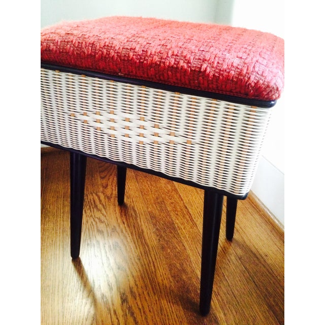 Vintage Sewing Basket With Pencil Legs - Image 11 of 11