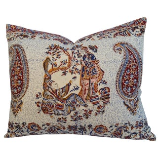 Persian Block Print Linen Pillow