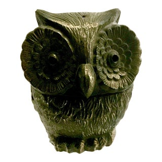 Mid-Century Brass Owl Incense Burner