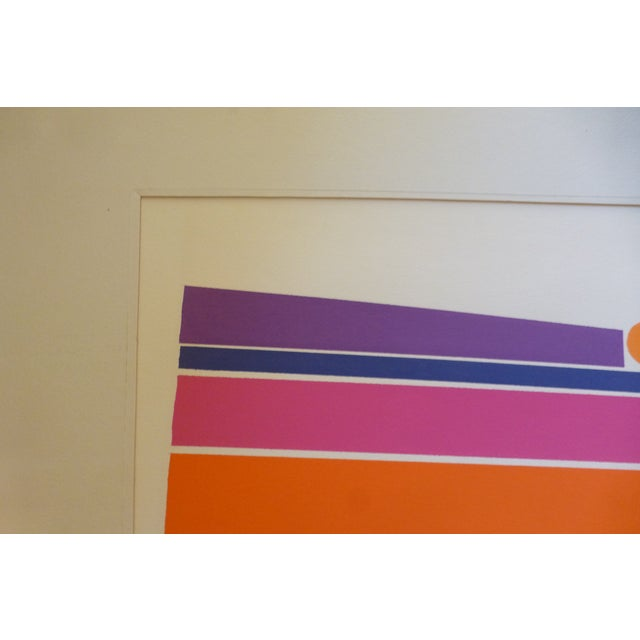 """Orange Landscape"" a Mod Print by Calvin Libby - Image 3 of 8"