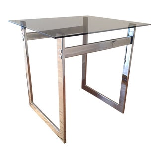 Mid-Century Modern Chrome Side Table