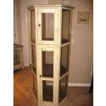 Image of Pine Wood Curio Display Cabinet