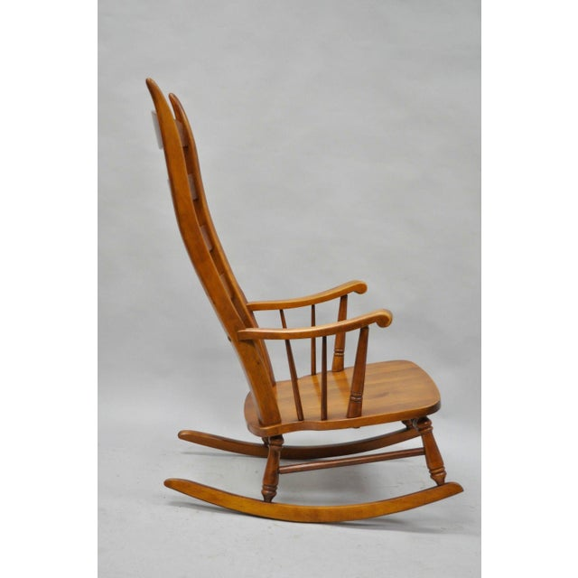 Mid-Century Tell City Maple Sculptural Ladder Back Rocking Chair - Image 8 of 11