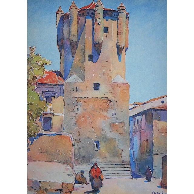 Vintage Lithograph Spanish View - Salamanca - Image 1 of 3