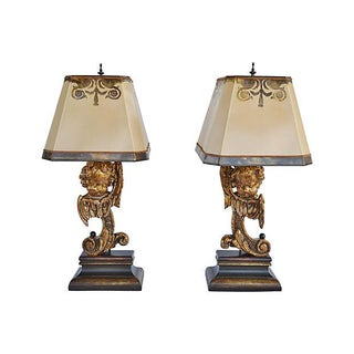 Baroque-Style Lamps - Pair