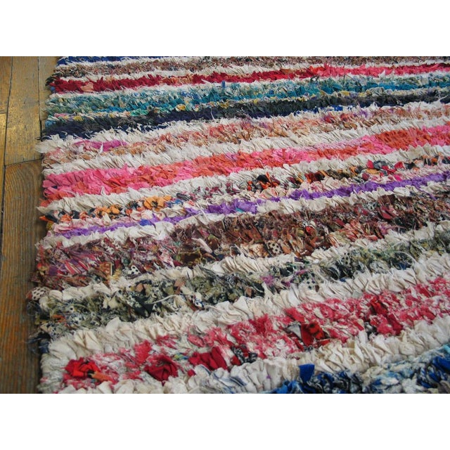"""Traditional Moroccan Boucherouitte Rug - 3'6"""" x 5'6"""" - Image 4 of 4"""