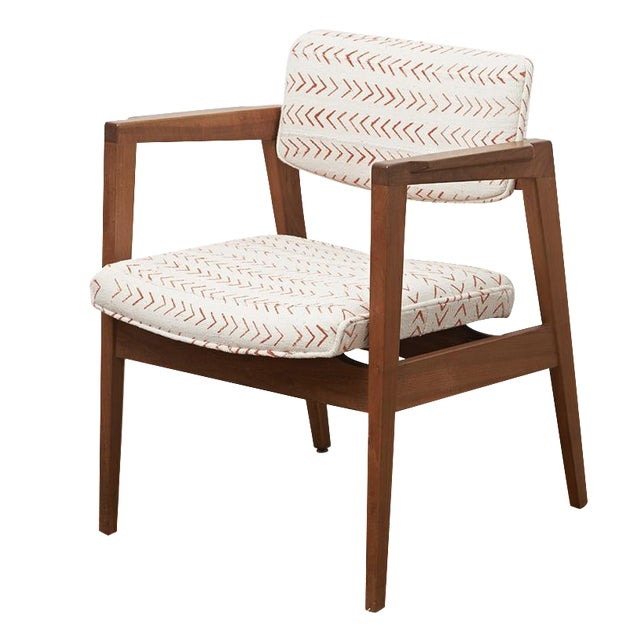 mid century upholstered side chair chairish. Black Bedroom Furniture Sets. Home Design Ideas