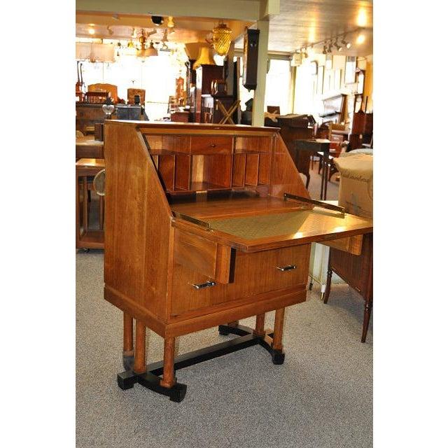 Image of 1930's Art Deco Drop Front Desk