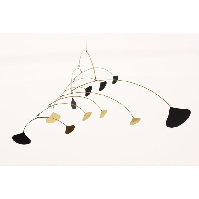 Vintage Brass & Black Metal Abstract Mobile - Image 2 of 6