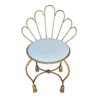 Hollywood Regency Rope & Tassel Feet Chair