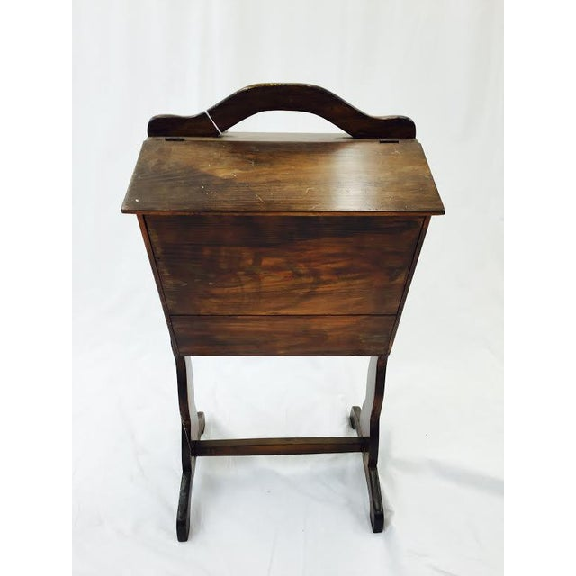 wooden sewing box side table chairish