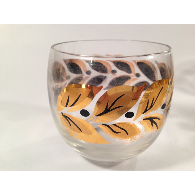 Gold & Black Roly Poly Bar Glasses - S/6 - Image 3 of 8