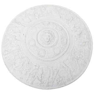 Versace Attribtion White Plaster over Resin Medallion Relief Wall Sculpture