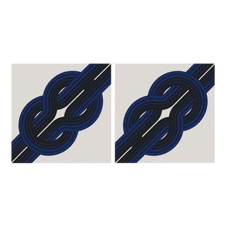 "Tie the ""Knot"" Large Vintage 1970 Prints - A Pair"