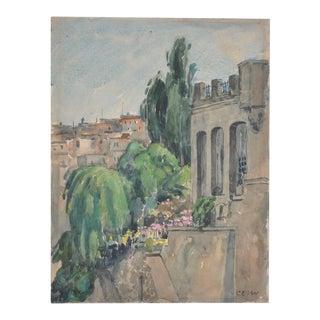 Charles Erskine Scott Wood Original Watercolor c.1930