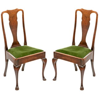 Queen Anne Oak Chairs - A Pair