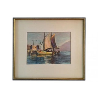 Sailboats In Monterey Bay Painting