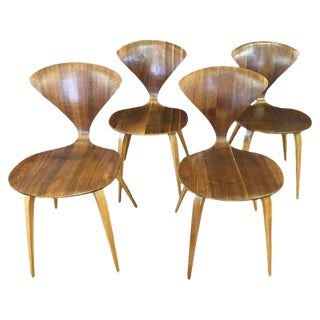 Set of Four Vintage Cherner Side Chairs by Norman Cherner for Plycraft