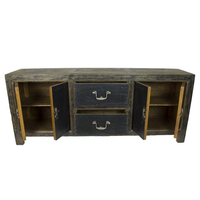black distressed gansu style cabinet chairish