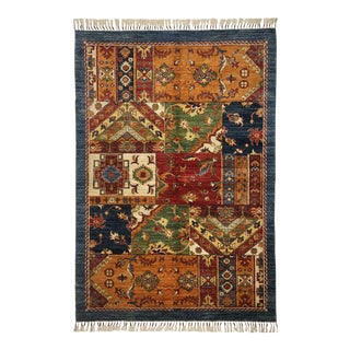 "Floral Design Traditional Area Rug - 4'2"" X 6'2"""