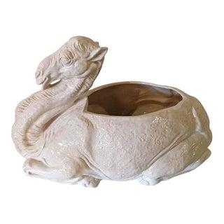 Vintage Italian White Ceramic Camel Planter