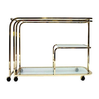 Brass & Glass Bar Cart by DIA