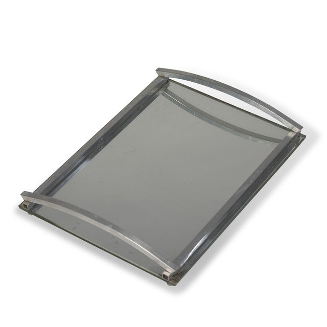 1930s Matte Nickel Frame Serving Tray - Image 4 of 9