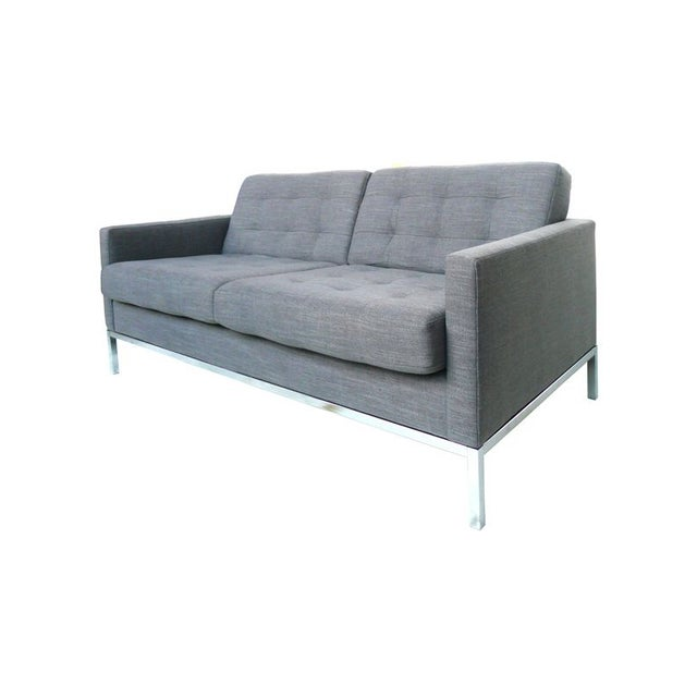 Florence Knoll Grey Settee - Image 2 of 3