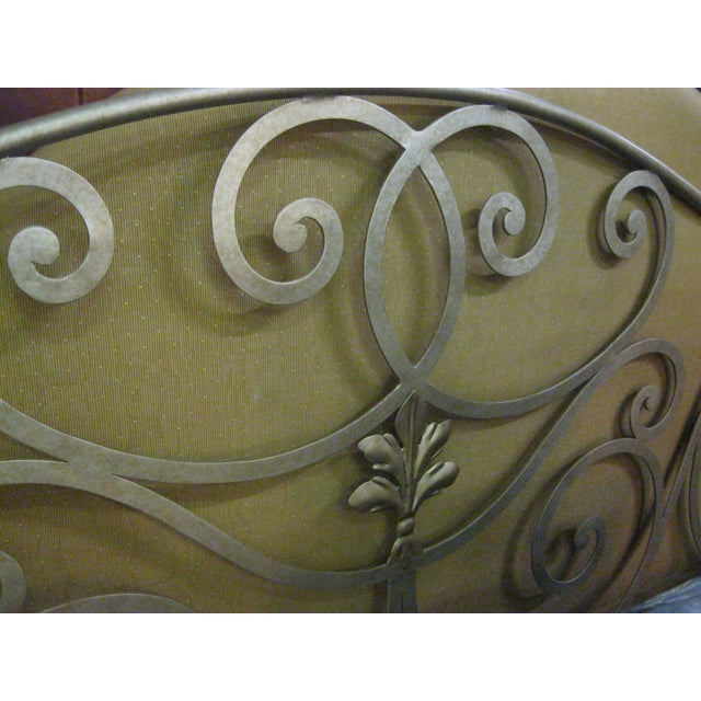 Image of Metal Scroll Design King Size Bed
