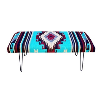 Vintage Bench With Hairpin Legs