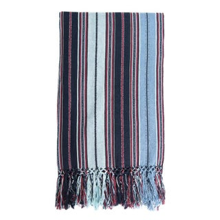 Guatemalan Indigo Striped Blanket