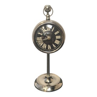 Chrome Hanging Pocket Watch Clock