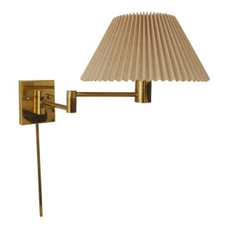 Casella Lighting Brass Swing Arm Wall Lamp Sconce