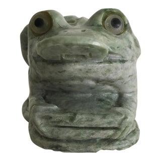 Vintage Solid Jade Lucky Frog Figurine