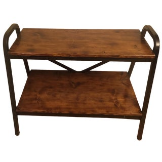Reclaimed Wood Industrial TV Stand