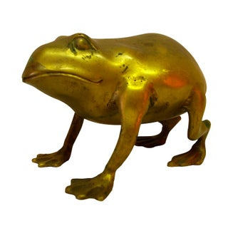 Large Brass Frog