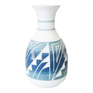 Vintage Blue Southwestern Pottery Vase