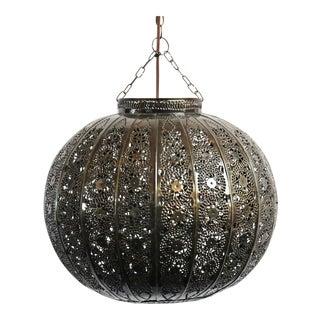 Bronzed Tin Pumpkin Lantern