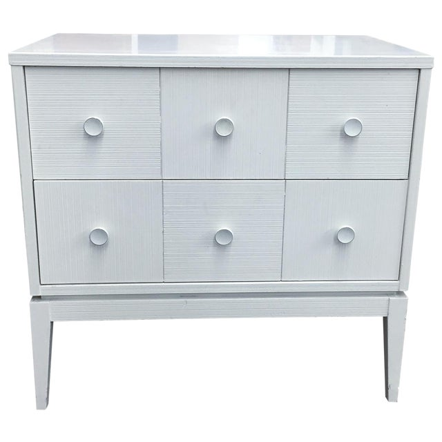 Mid-Century Kroehler White Side Chest of Drawers - Image 1 of 8