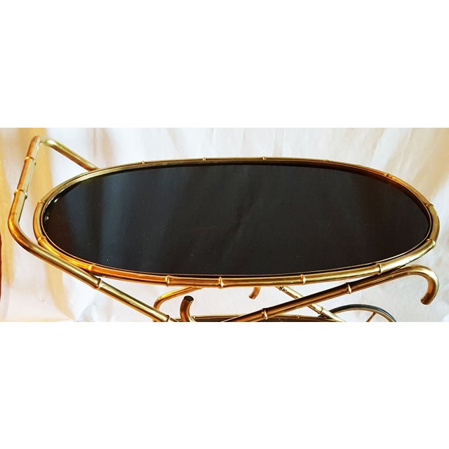 Vintage Maison Bagues French Oval Bar Cart - Image 7 of 7