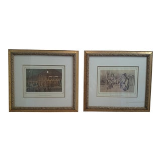 French Chomolitograph Prints of Dancers - A Pair