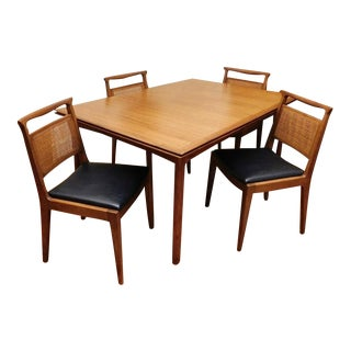 Mid-Century Modern John Stuart Teak Extendable Dining Set