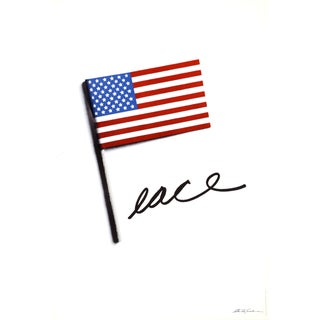 Stanley Eisenman, Peace With American Flag, Poster